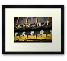 Clocks - Flinders Street - Melbourne Framed Print