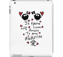 Love in many language iPad Case/Skin