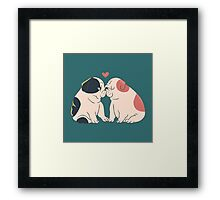 English Bulldog Kisses Framed Print