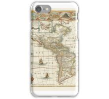 Americas--Blaeu, Johannes AMERICAE NOVA TABULA. AMSTERDAM, [], X 550MM., DOUBLE-PAGE ENGRAVED GENERAL MAP, INSET MAP OF GREENLAND AND ICELAND iPhone Case/Skin