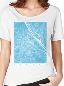 Vienna map blue Women's Relaxed Fit T-Shirt