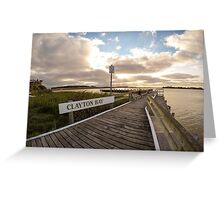 Sunset at Clayton Bay Greeting Card