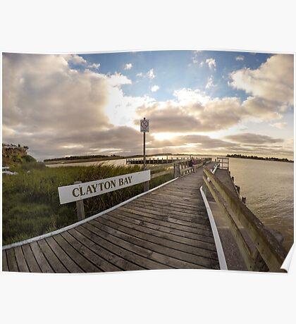 Sunset at Clayton Bay Poster