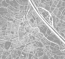 Vienna map grey by mapsart