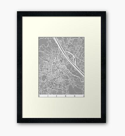 Vienna map grey Framed Print