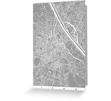 Vienna map grey Greeting Card