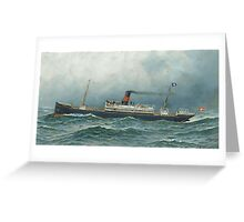Antonio Nicolo Gasparo Jacobsen (Copenhagen Hoboken, New Jersey) The Danish steamship Oscar II at sea Greeting Card