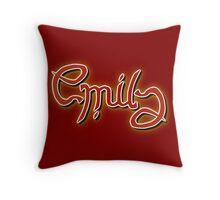 """Emily"" Ambigram (reversible image) Throw Pillow"