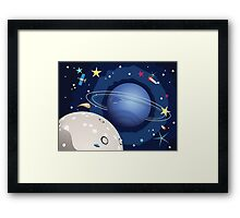 Neptune Planet in the Space 3 Framed Print