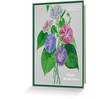 Happy Mothers Day Loving Nature And Delicate Words Greeting Card