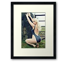 Black Swimsuit Perfection Framed Print