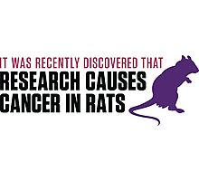 Research increases the risk of cancer in rats Photographic Print