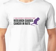 Research increases the risk of cancer in rats Unisex T-Shirt