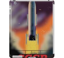 CCCP Soviet union Rocket Poster iPad Case/Skin