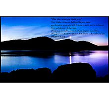 Bible Verse Matthew 6:9-13 Photographic Print