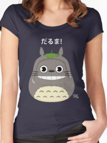 Totoro Daruma Women's Fitted Scoop T-Shirt