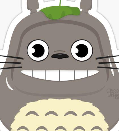 Totoro Daruma Sticker