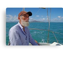 Richard Sailing on Cleveland Bay Townsville Canvas Print