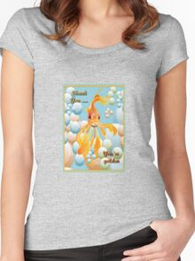 Thank You, You're Golden Vermillion Goldfish Humor Women's Fitted Scoop T-Shirt