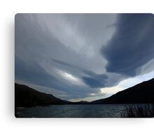 New Zealand lenticular clouds Canvas Print