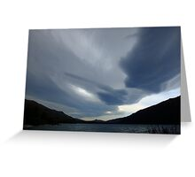 New Zealand lenticular clouds Greeting Card