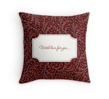 Love card Throw Pillow