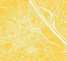 Vienna map yellow by mapsart
