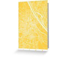 Vienna map yellow Greeting Card