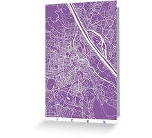 Vienna map lilac Greeting Card