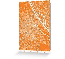 Vienna map orange Greeting Card