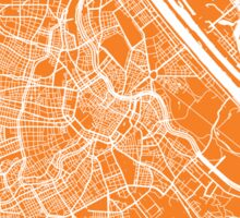 Vienna map orange Sticker
