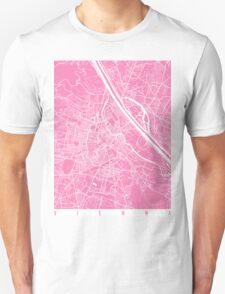 Vienna map pink Unisex T-Shirt