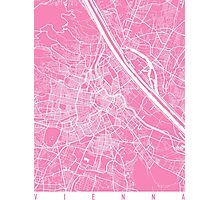 Vienna map pink Photographic Print