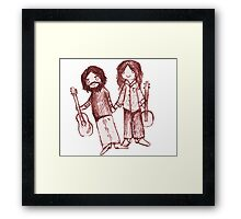 Country Couple Framed Print
