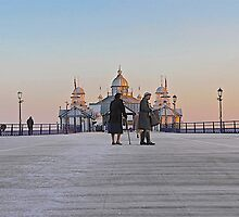 Stroll on the Pier by John Thurgood