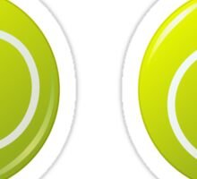 Tennis ball stickers Sticker