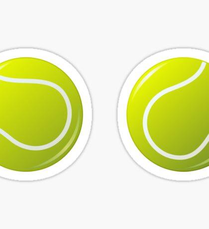Tennis ball stickers Sticker