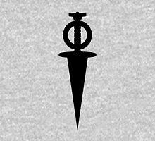 Riven Moiety Dagger Vector - Black T-Shirt