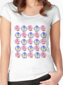 Pansies Women's Fitted Scoop T-Shirt