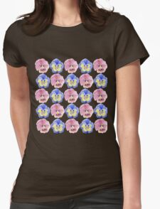 Pansies Womens Fitted T-Shirt