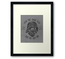 The easy way. Framed Print