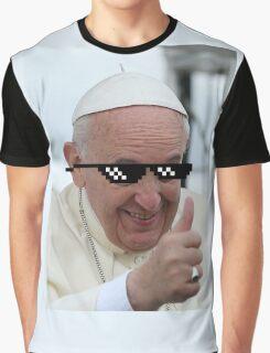 Pope Francis Thug Life Graphic T-Shirt