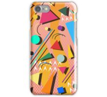 80s pop retro pattern iPhone Case/Skin