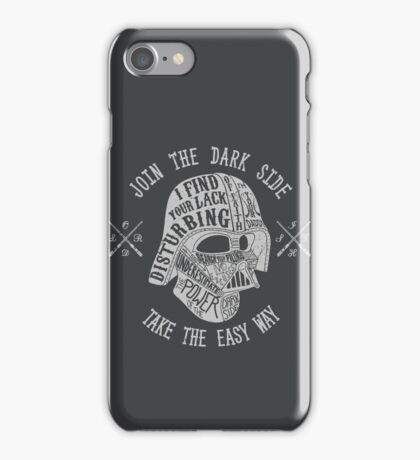 The easy way. (Alternate) iPhone Case/Skin
