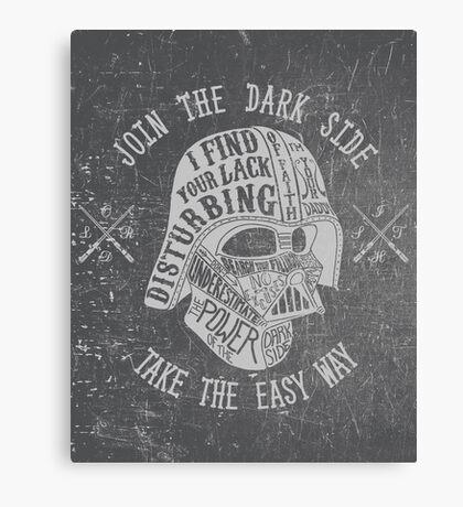 The easy way. (Alternate) Canvas Print