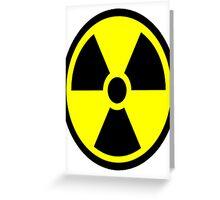"Nuclear Hazard - ""Stay back!"" Greeting Card"