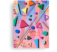 80s pop retro pattern 2 Canvas Print