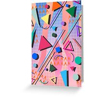 80s pop retro pattern 2 Greeting Card