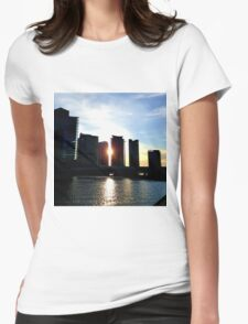 Melbourne's Docklands Womens Fitted T-Shirt