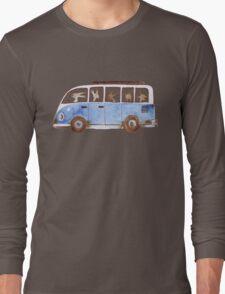 Bunny in Vintage Volkswagen Long Sleeve T-Shirt